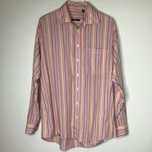 Burberry London Striped Shirt Made in USA Lg